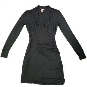 Banana Republic Charcoal Gray Faux Wrap Dress